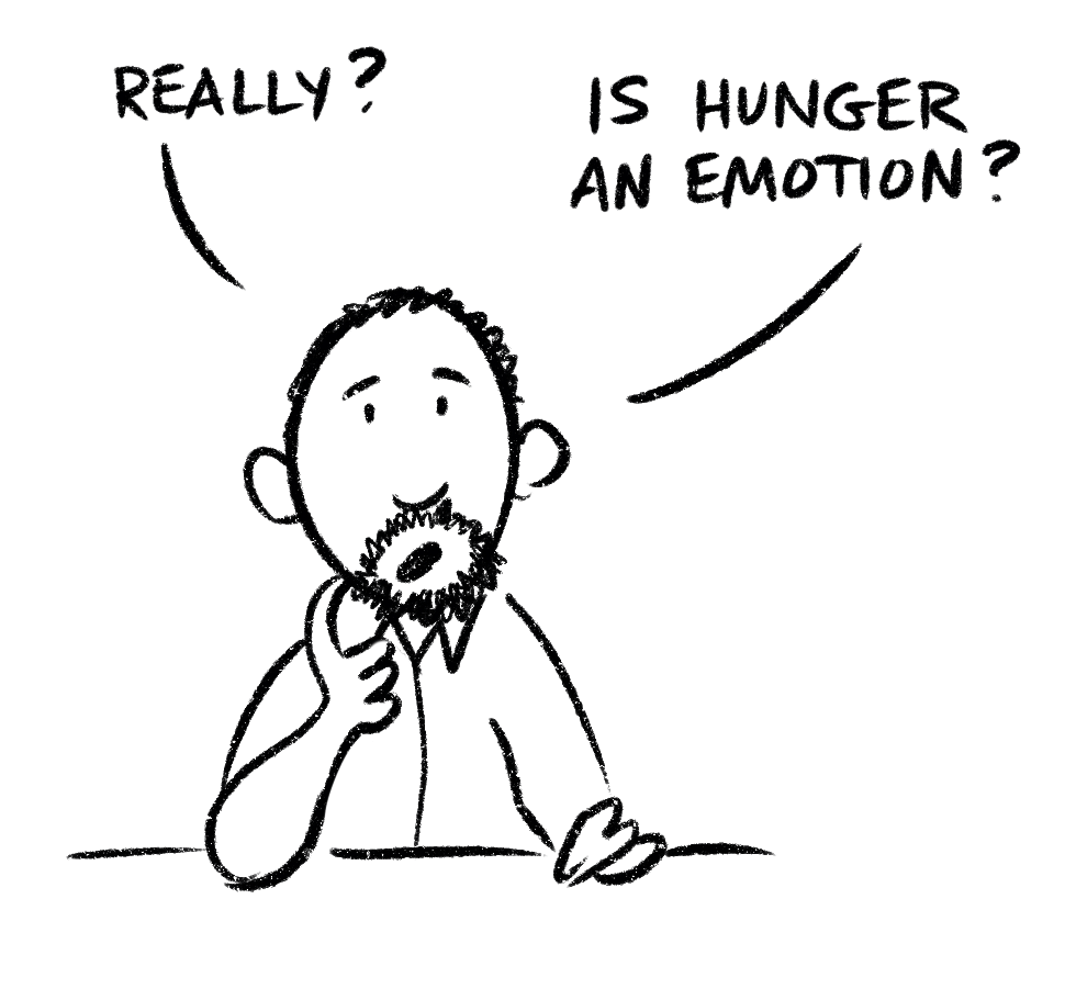 Is hunger an emotion?